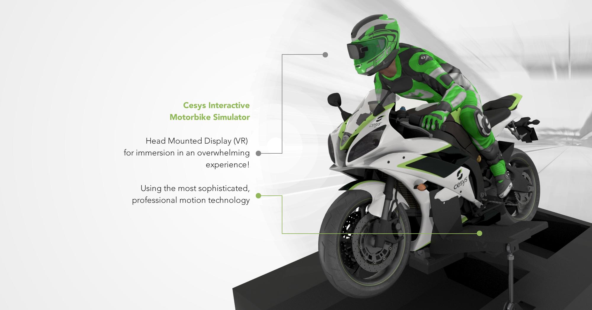 Entertainment Simulators | Cesys | Motorbike